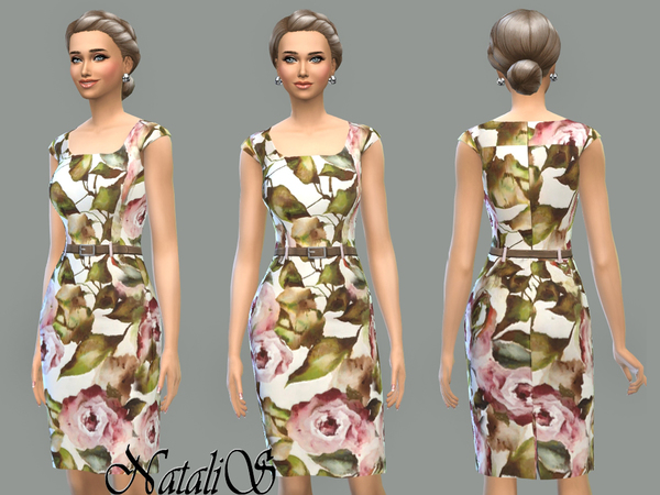 NataliS_Rose printed dress FT-FE