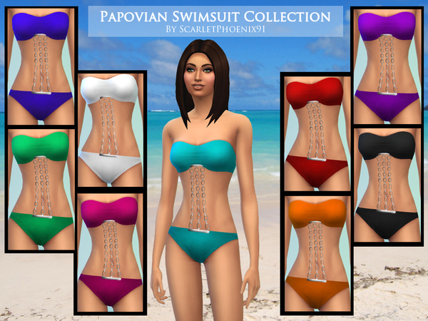 Papovian Swimsuit Collection by scarletphoenix91
