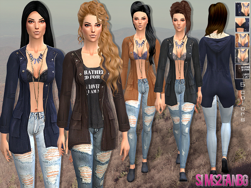 19 - Casual outfit with jacket by sims2fanbg
