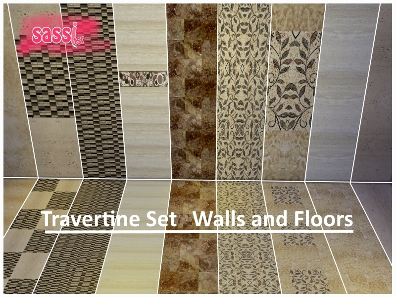 Travertine Set Walls and Floors by sassitsr