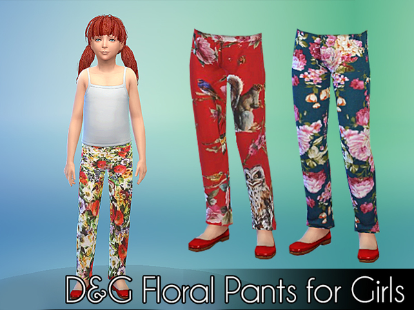 D&G Floral Pants for Girls by NIREsim