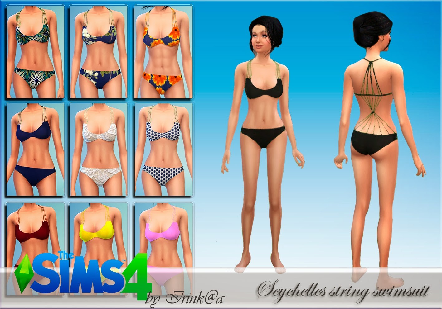 Seychelles string swimsuit by Irink@a