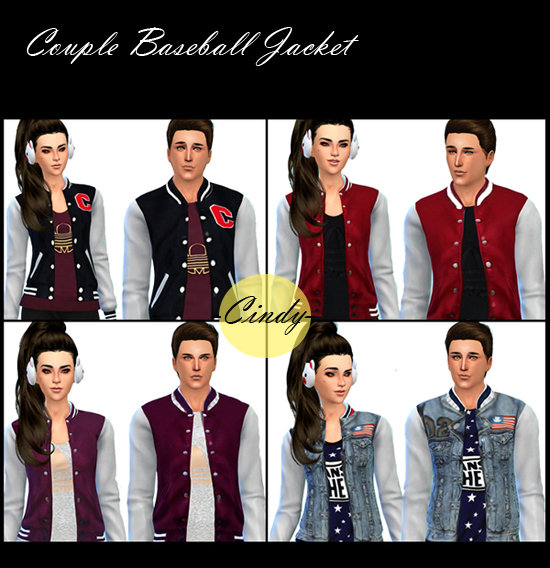 Couple Baseball Jackets at CCTS4
