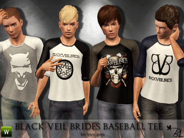 Teen Black Veil Brides Baseball Tee by Black Lily