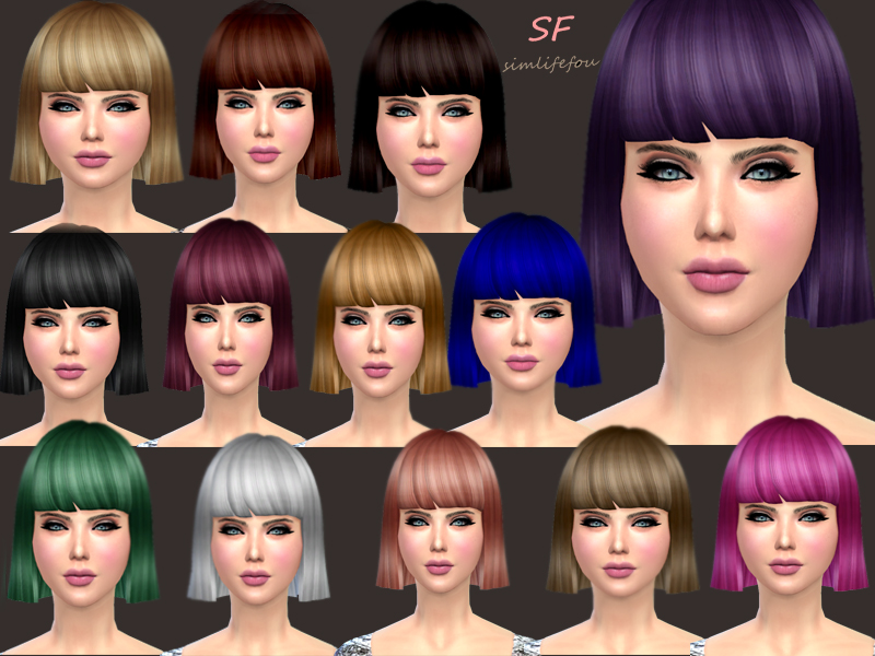 Mysimlifefou Bob Hair for Females