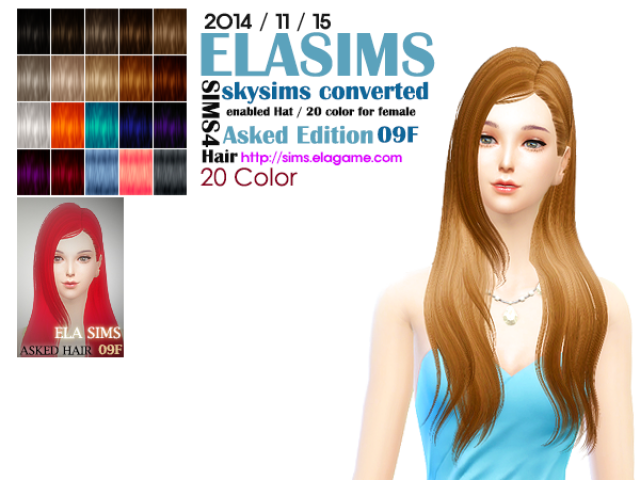 Skysims Hair Conversion Asked 09F by Elasims