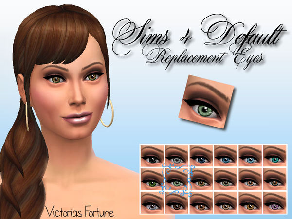 Victorias Fortune Sims 4 Default Eye Collection by fortunecookie1