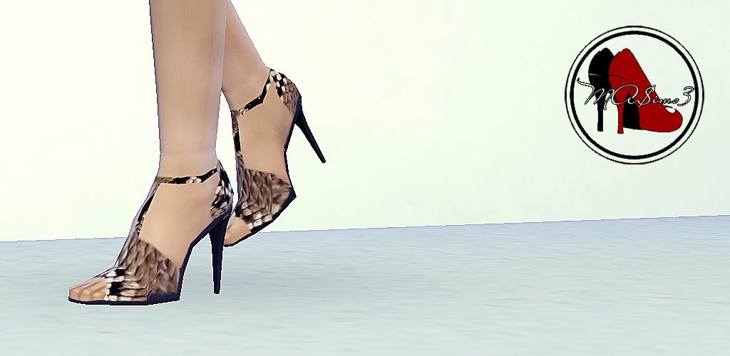 Snake Stiletto Ankle Strap Sandals by MrAntonieddu