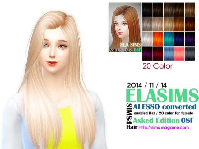 Alesso Hair Conversion Asked 08F by Elasims