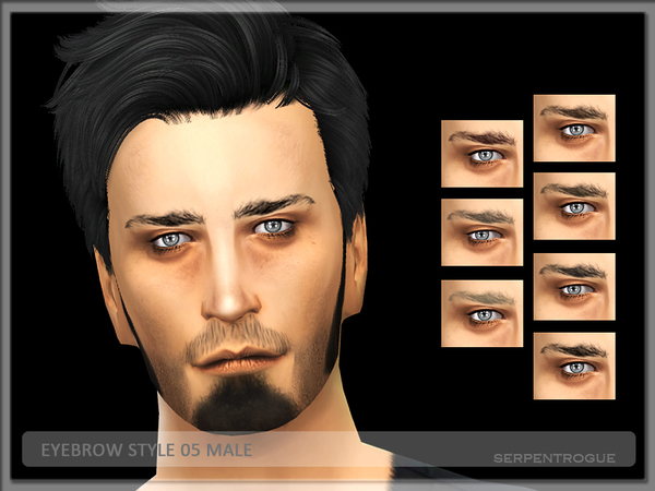 Eyebrow Style 05-Male by Serpentrogue