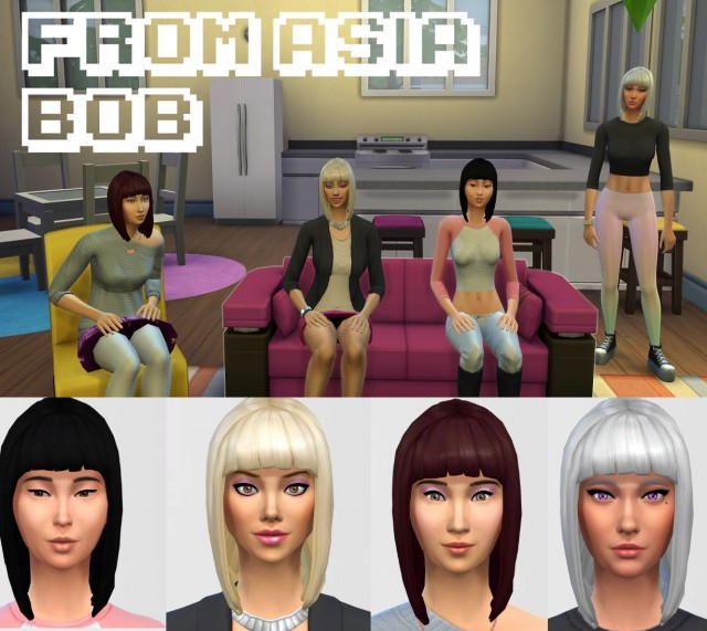 Fromasia Bob Hair for Females by GothFamilySwag