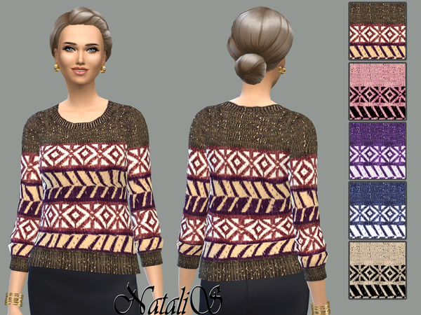 NataliS Sweater ornament knit FT-FE