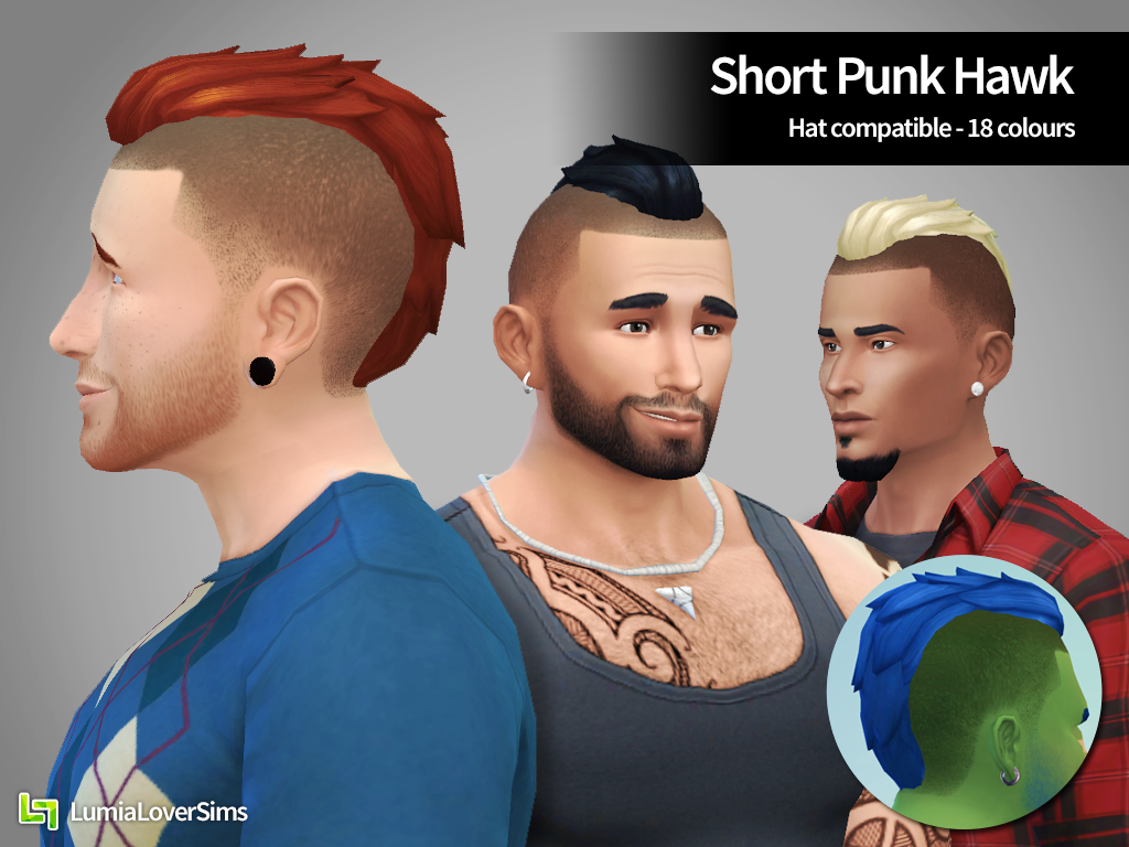 Short Punk Hawk for males by LumiaLover