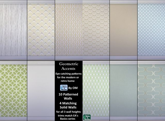 Geometric Accents Wallpaper by OM