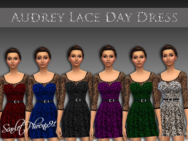 Audrey Lace Day Dress by scarletphoenix91