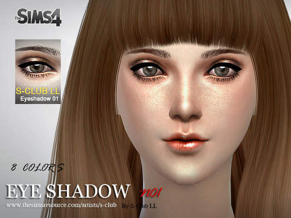S-Club LL thesims4 Eyeshadow 01