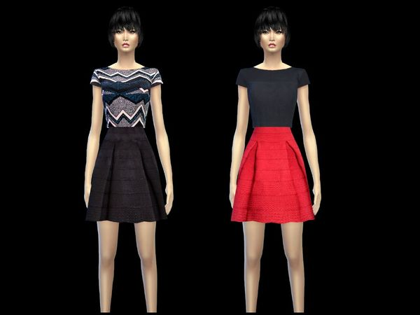 cropped top dress set female by simsoertchen