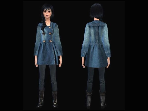 sweet denimcoat female by simsoertchen