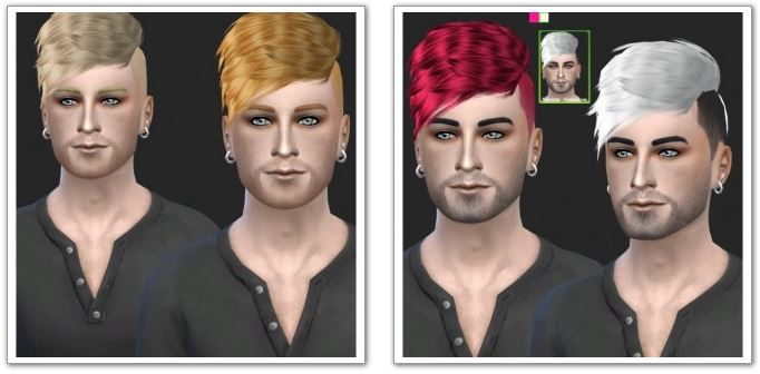 Black-Le Hawk Fatale Male Hair Retexture at Simista