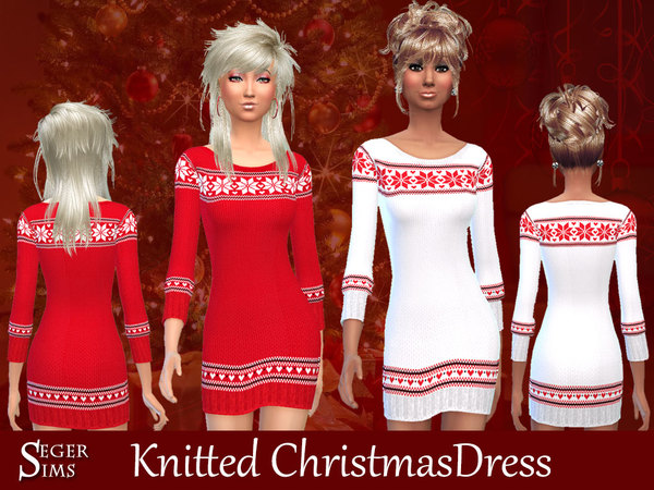 Knitted ChristmasDress by SegerSims