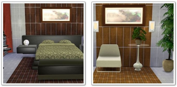 Wall panels and floor Alligator by HelleN