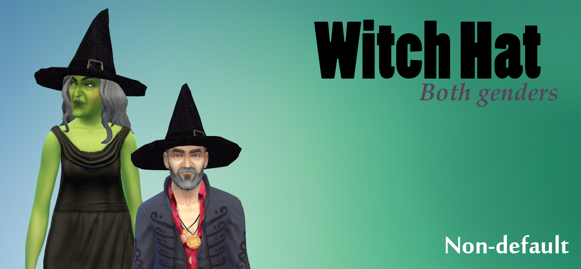 Witch Hat for Males & Females by JoolsSimming