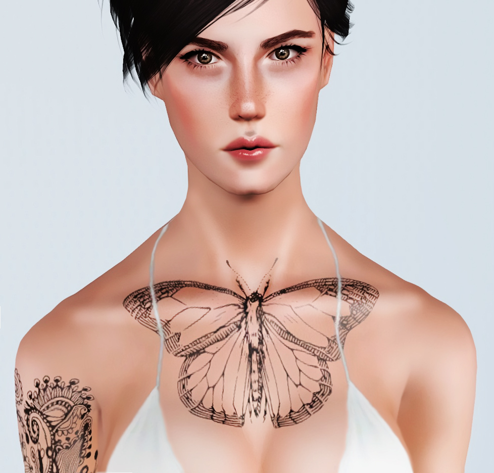 Black n White Accessory Tattoos by Andromedasims
