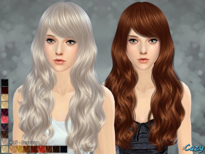 Sorrow Hairstyle - Sims 4 by Cazy
