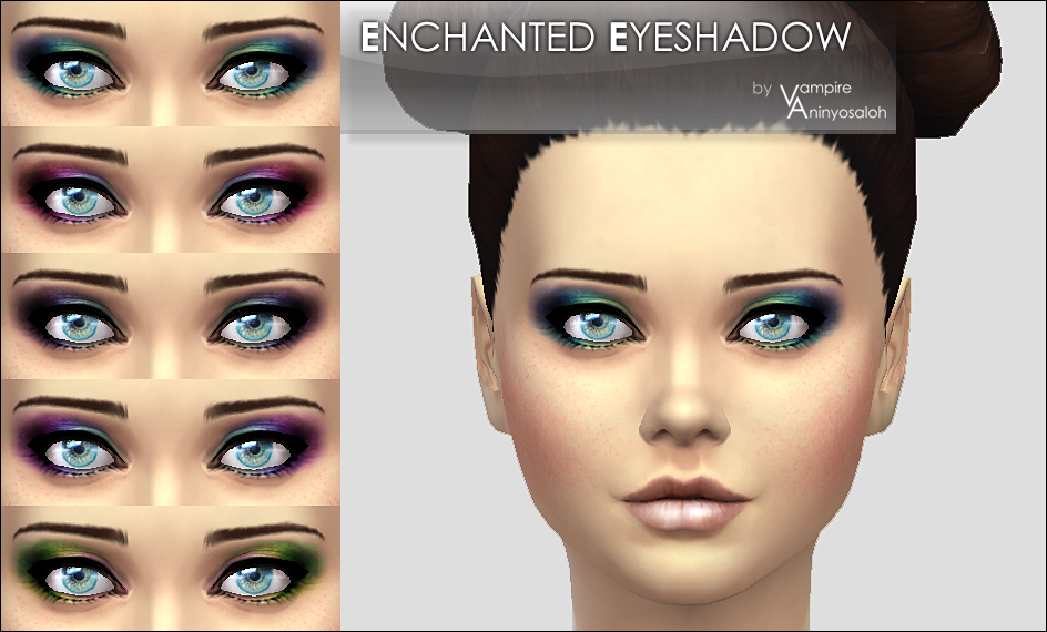 Enchanted Eyeshadow -5 colors- by Vampire_aninyosaloh