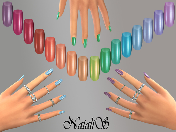 NataliS Rainbow nails collections FT-FE