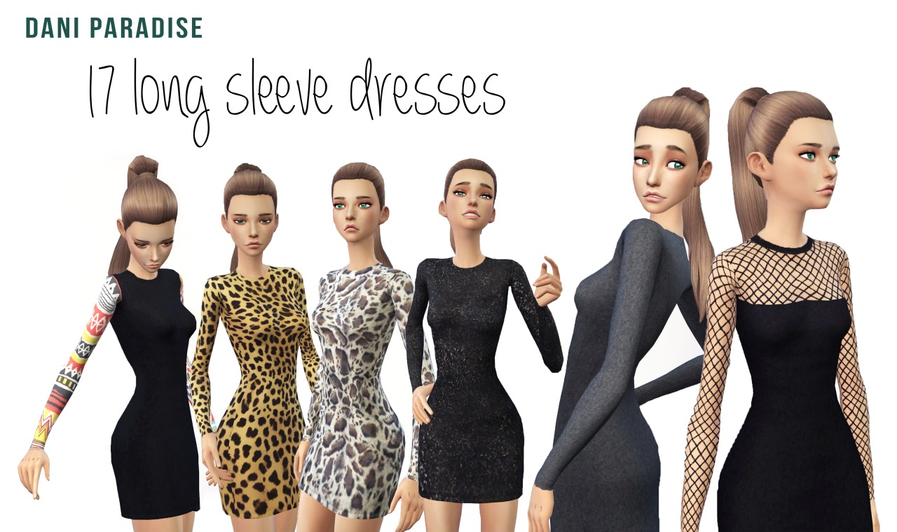 17 Long Sleeve Dresses by DaniParadise