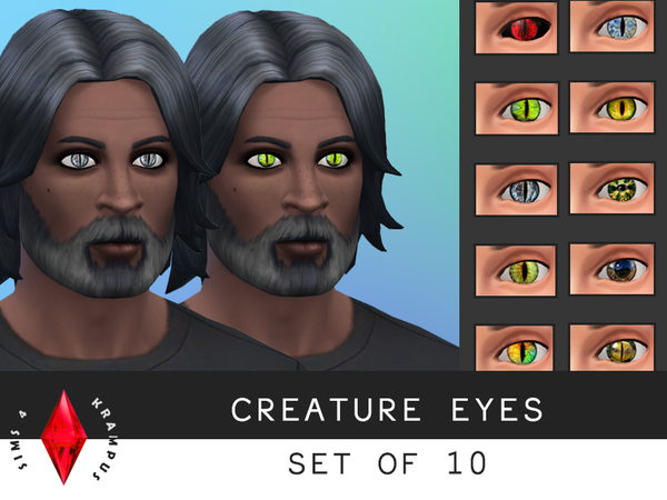 Set of 10 Creature Eyes by SIms4Krampus