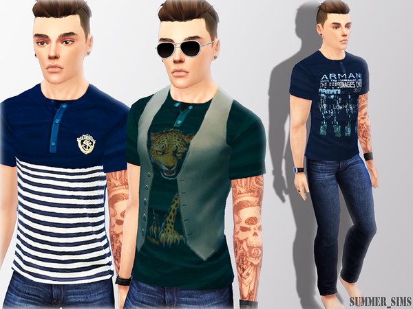 Mix t-shirts by Summer_Sims