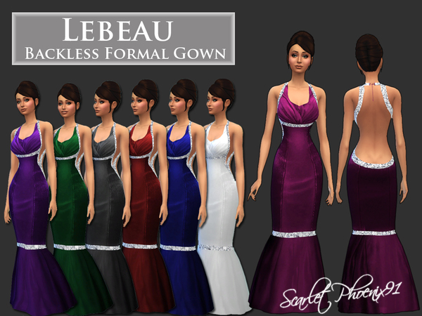 Lebeau Backless Formal Gown by scarletphoenix91