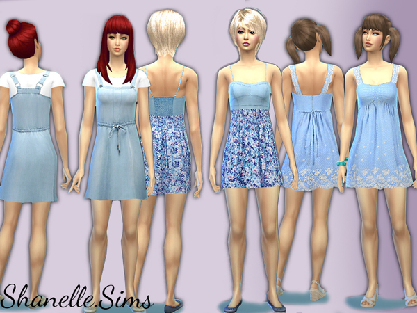 Blue denim dresses set by shanelle.sims