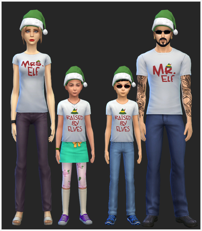 Elf Family Christmas Tees and Hats at Simista