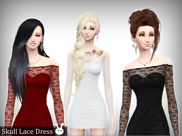 Skull Lace Dress by XxNikkibooxX