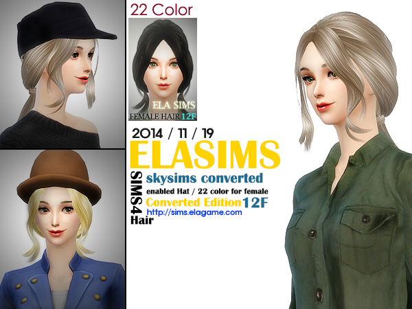 Skysims Hair conversion 12F by Elasims
