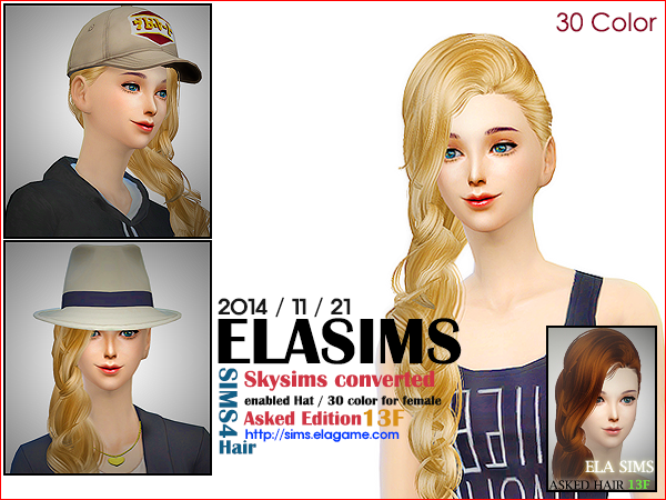 Skysims Hair conversion 13F by Elasims