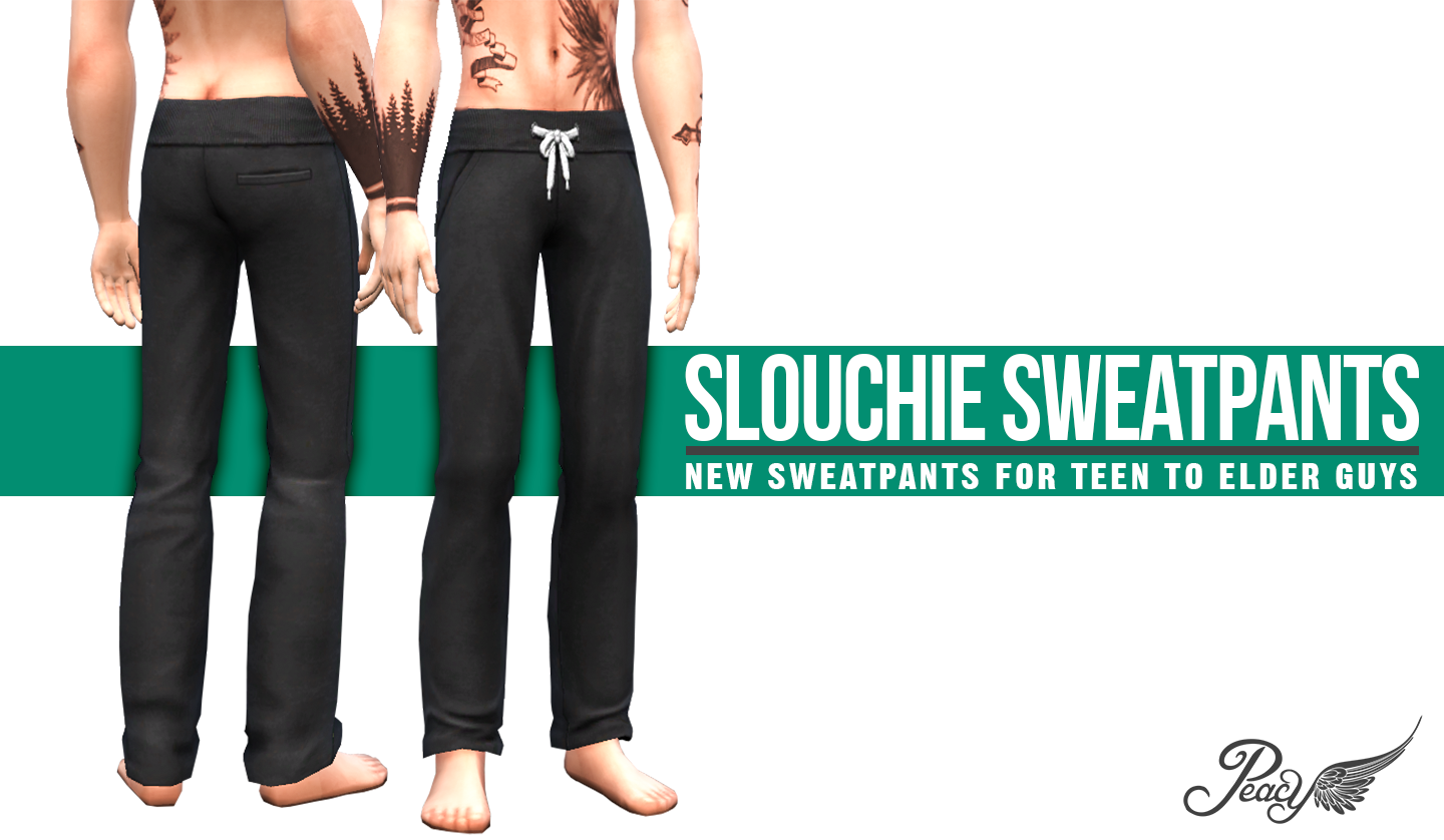 Slouchie Sweatpants for Teen - Elder Males by Peacemaker ic