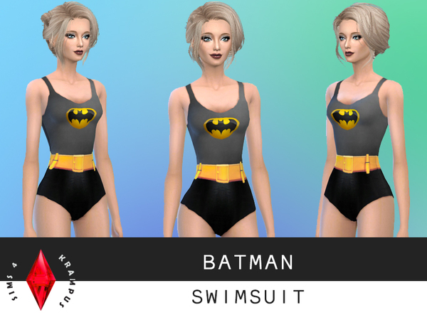 Batman Swimsuit by SIms4Krampus
