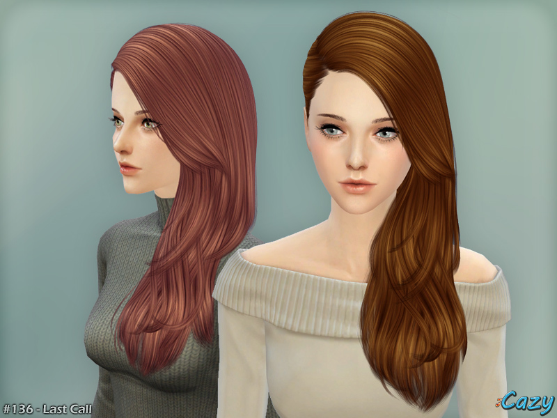 Last Call Hairstyle - Sims 4 bY Cazy