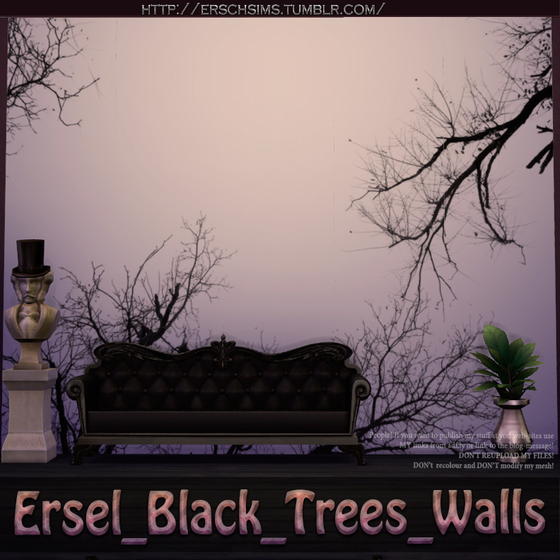 Black Trees Walls by Ersel