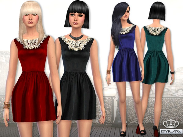 Esyram_Embellished Velvet dress