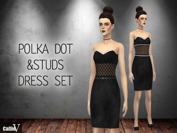 Polka Dot & Stud Dress Set by Callie V
