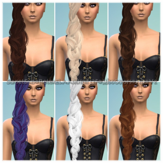 Retex-ELAAskHair13F-MiscColors-ND-3Versions by SunsetSims
