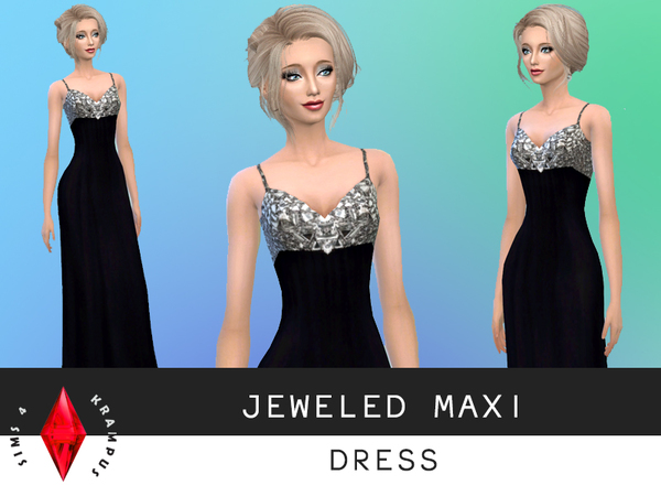 Jeweled Maxi Dress by SIms4Krampus