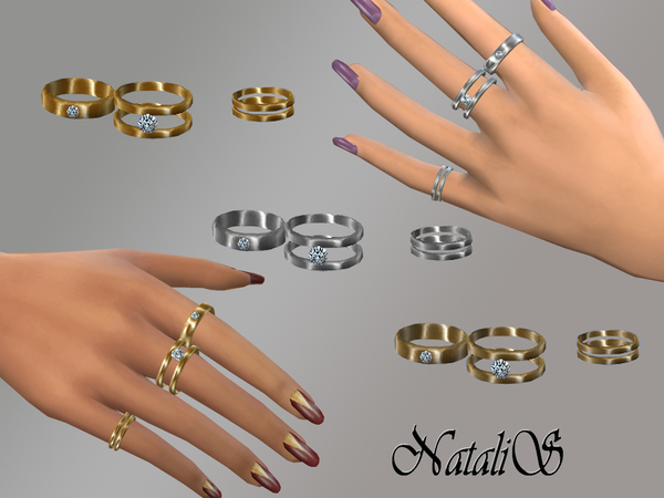 NataliS Multi rings set FT-FA