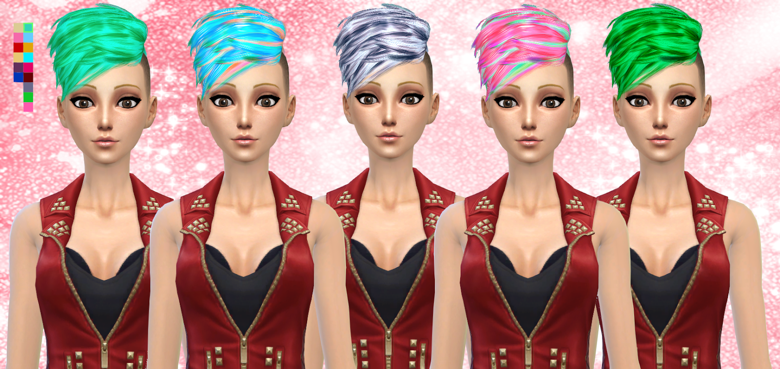 Neissys Half-Hawk Recolors at Darkiie Sims4