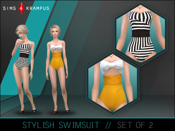 Stylish Swimsuit Set of 2 by SIms4Krampus